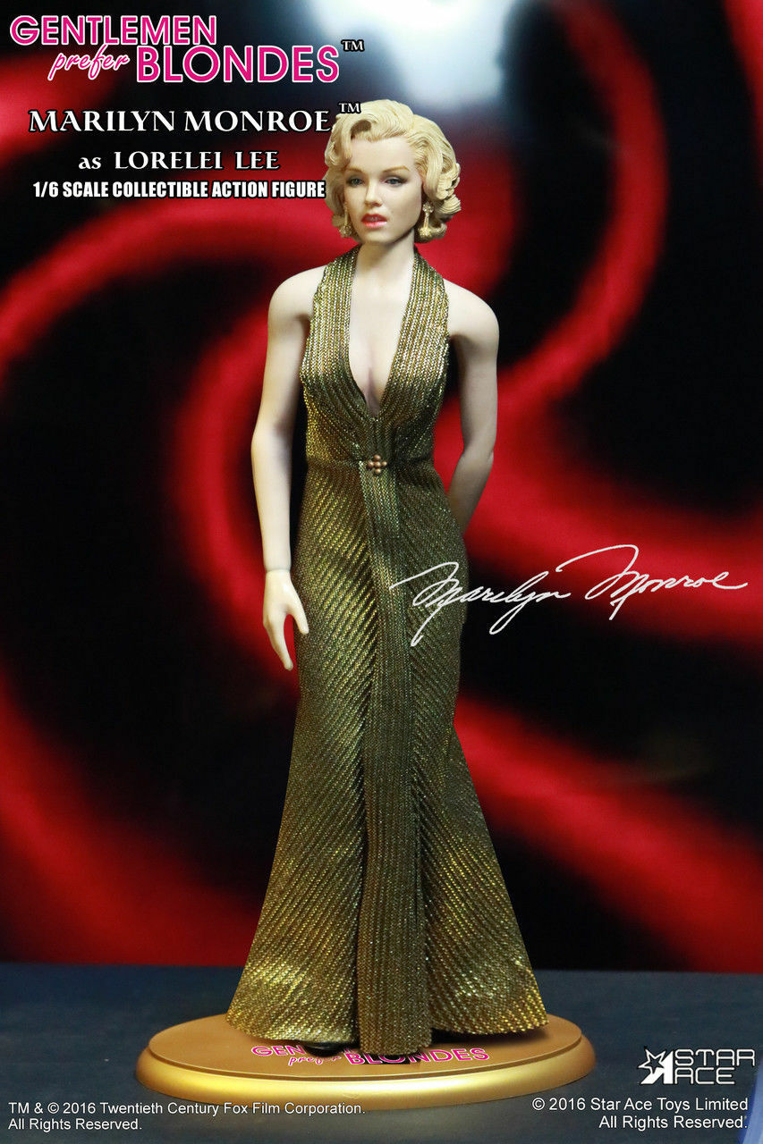 Star Ace Toys 1 6 Scale Marilyn monroe comme Lorelei Lee or robe VERSION NEW