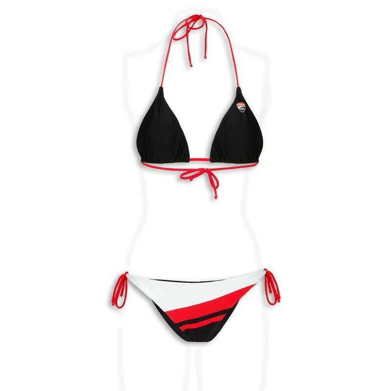 Ducati Corse'14 Dos-nu Bikini Maillot De Bain Noir Blanc Rouge-très Sexy!!! Neuf