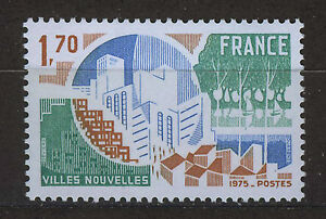 FRANCIA-FRANCE-1975-MNH-SC-1455-Creation-of-new-towns