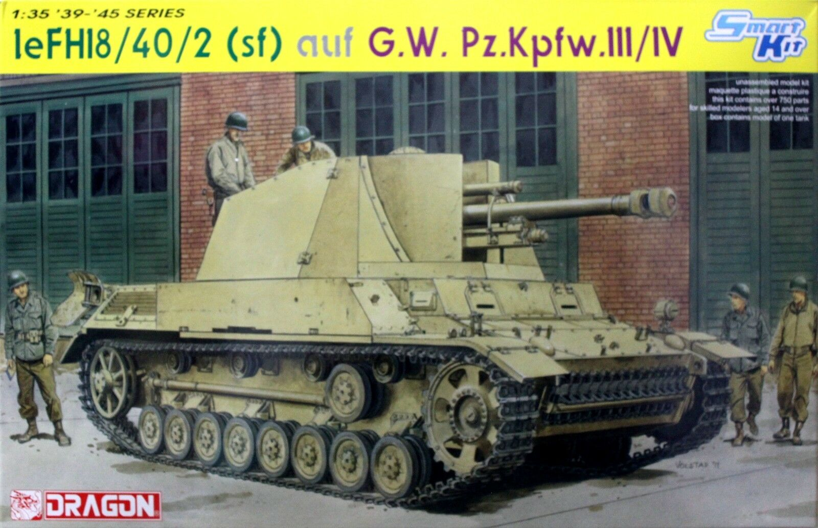 Dragon 1 35 6710 WWII German leFH18 40 2 (sf) auf G.W.Pz.Kpfw.III IV (Smart Kit)