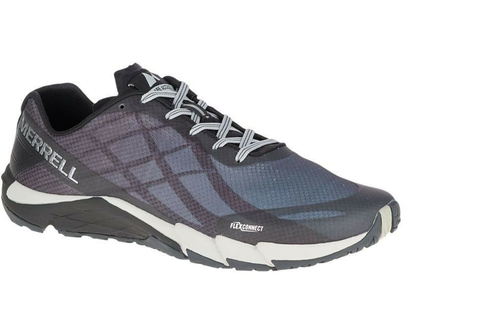 best sneakers 7fc92 0299a New Merrell J09657 Bare Access Flex Black   Silver Silver Silver Men s Running  Shoes 13 US