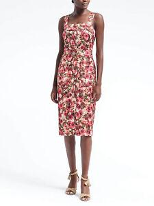 ad0b6101ba4 Banana Republic Women s Floral Belted Midi Apron Dress Size 6 Petite ...