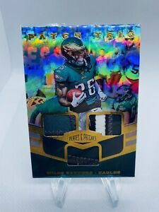 2019 Plates and Patches Trio Patch Miles Sanders RC # /99 Eagles Multi Color NM
