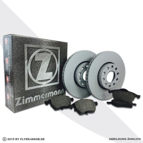 Zimmermann frenos discos de freno delantero pastillas de freno opel zafira a f75 2.0 OPC