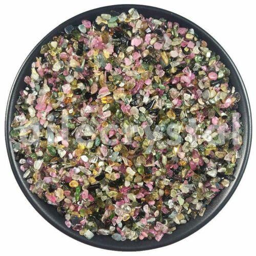 2.2LB Natural Colorful Tourmaline Tumbled Chips Stone Healing Reiki Crystal