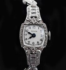 Vintage 30's Platinum Diamond Petite Ladies Rolex watch w/Platinum Band  ロレックス