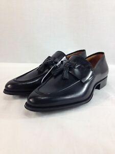 178758a4eef NEW Zara Man Shoes Mens 10 Black Leather Dress Tassels Loafers Slip ...
