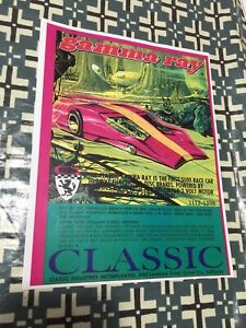 VINTAGE-CLASSIC-INDUSTRIES-GAMMA-RAY-SLOT-CAR-POSTER-PAGE-VERY-COOL-COLOR-AD-2