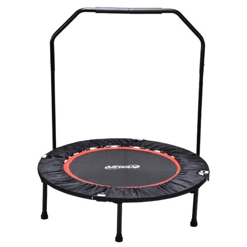 NEWAN Fitness Exercise Trampoline with Handle Bar, 40 Foldable Rebounder Wor...