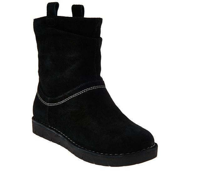 85f6cba3b59 Clarks Unstructured Suede Boots Ashburn Black Suede UK 3.5 EU 36 E Fit JS46  92