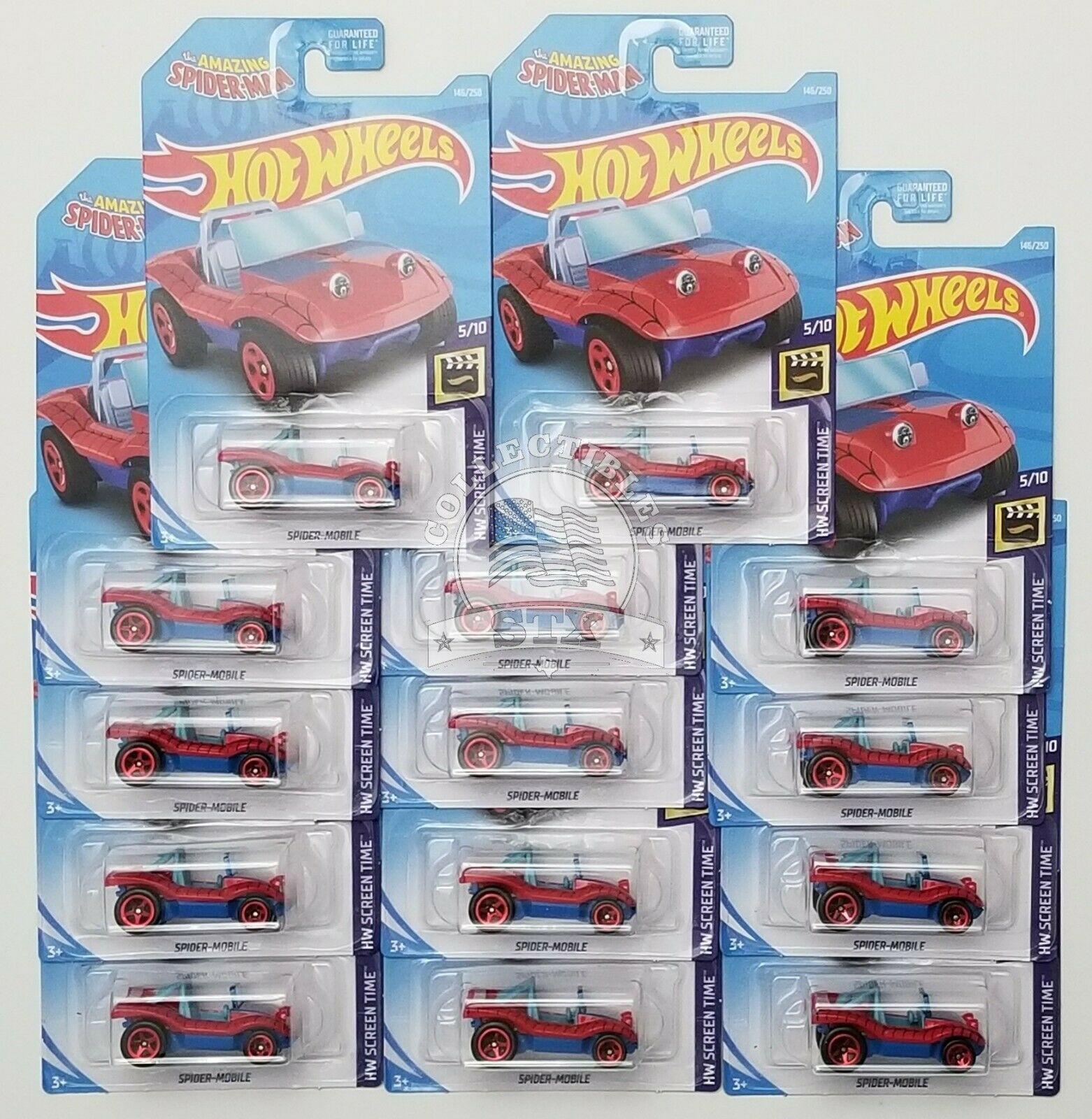 2019 Hot Wheels LOT of 14 - The Amazing Spider-Man - Spider-Mobile G5