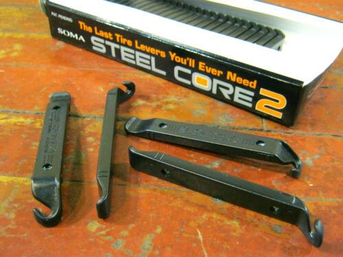 "New SOMA /""STEEL CORE 2/"" Tire Levers Reinforced Nylon virtually unbreakable BULK"