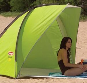 Image is loading Coleman-Sun-Shade-Shelter-Beach-Canopy-Outdoors-C&ing- & Coleman Sun Shade Shelter Beach Canopy Outdoors Camping Portable ...