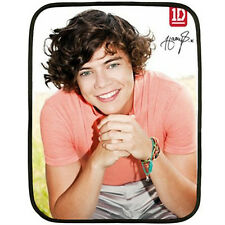 Harry Styles - One Direction-1D Autograph Custom Mini Fleece Blanket -NEW