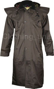 JQ11 Ladies Riding Coat Long Full Length Waterproof Rain Jacket Cape Country