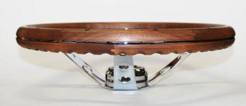 "49-56 Ford Ranch Wagon Skyliner Grant Wood Steering Wheel Walnut 15/"" Chrome"