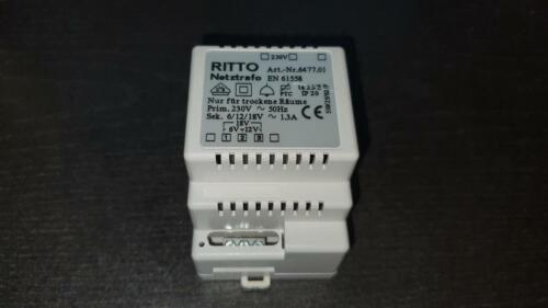 Ritto Netztrafo 6477.01 6 12 18 V~ 1,3 A 1 6477 01 Klingel Transformator geb.