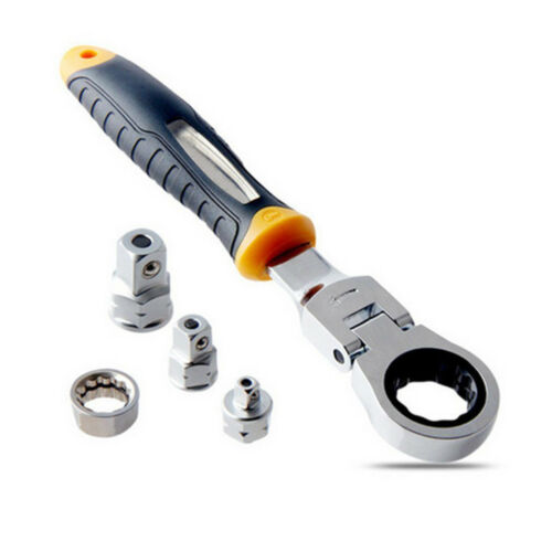 """Adjustable Atchet Wrench 1//4/"""" 3//8/"""" 1//2/"""" Sleeve Adapter  Wrench Spanner  Repair"""