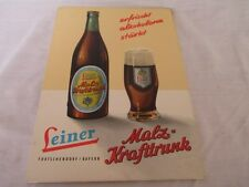 Leiner Brau Bayern German Beer P.O.S. display counter sign un-used in * German