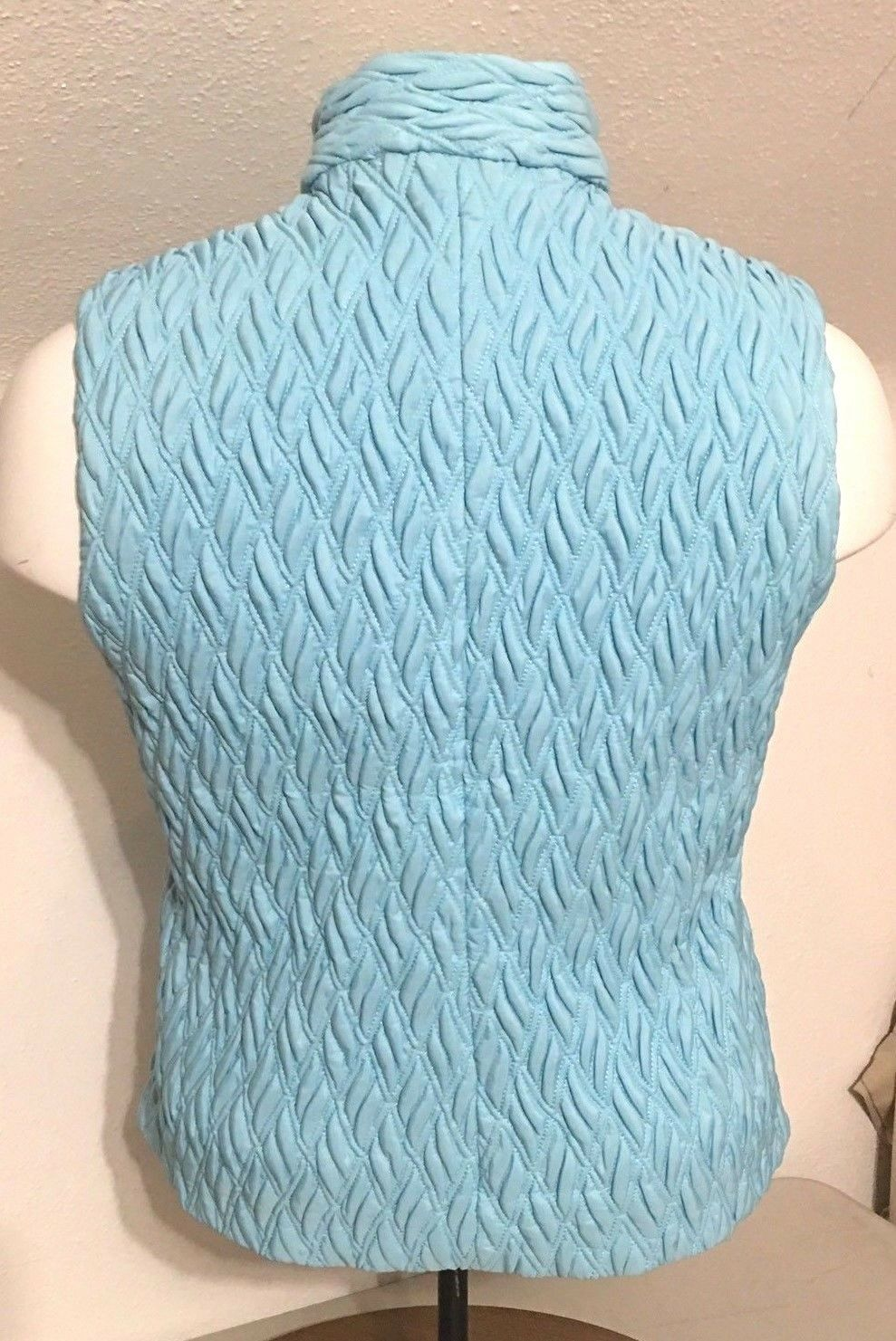 Taylor Brooke Womens Wine LT bluee Puffy Quilted Vest Vest Vest NICE  Sz XL F06 c1f6b9