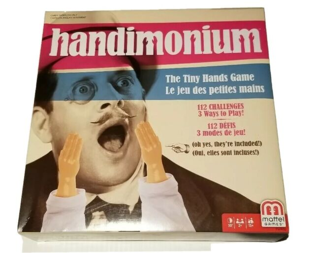 Handimonium The Tiny Hands Game Mattel Games