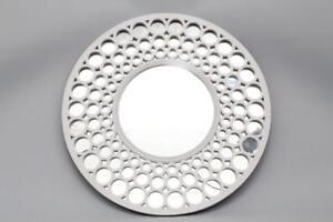 Image Is Loading Large Round White Retro Wall Hanging Modern Mirror