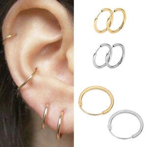 Image Is Loading 3 Pairs Simple Circle Small Hoop Earrings Set