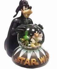 Disney Parks Star Wars Goofy, Stitch & Mickey Mouse Light Up Snow Globe ~ NEW ~