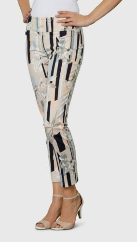 """Lisette 28"""" Ankle Pant Style 47301 Beige Passion Floral"""