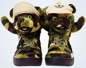 Adidas Jeremy Scott Camo Bear Shoes UK4