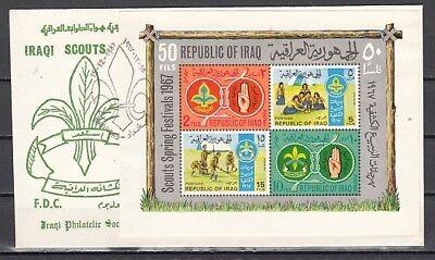 Ersttagsbrief 460a Scott Cat Sinnvoll Irak Iraqi Junge & Mädchen Scout S / Blatt