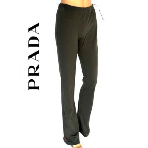 PRADA Women's Sport Pants Gray Warm Logo Joggers S
