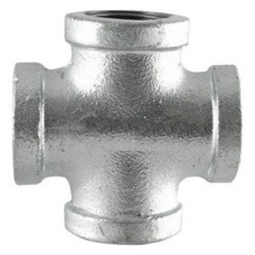 "1-1//2/"" GALVANIZED MALLEABLE IRON CROSS 4-way TEE fitting pipe npt"