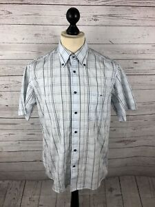 LACOSTE-Short-Sleeved-Shirt-Size-Medium-Check-Great-Condition-Mens