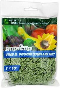Luster-Leaf-864-Rapiclip-Vine-and-Veggie-Trellis-Net-Green
