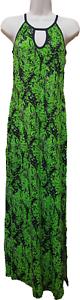 ASOS Lime Cheetah Print Split Maxi