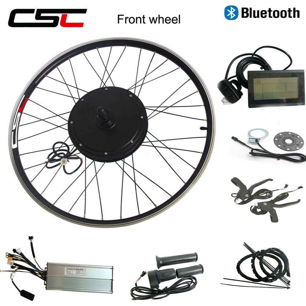 ECykel Front Wheel Hub Motor Kit 48V 1000W 26 Brushless Regeneration blåtooth