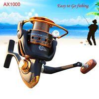 13BB Ball Bearing Metal Surf Carp Fishing Spool Spinning Reel AX 1000 5.5:1 Hot