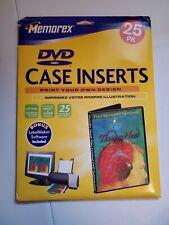 Memorex Dvd Storage Case Inserts New 25 Pack Sheets White Matte Inkjet Laser
