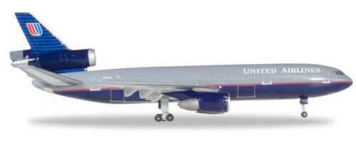 "Herpa 530941 United Airlines McDonnell Douglas DC-10-30 /""Battleship/"" color 1:500"