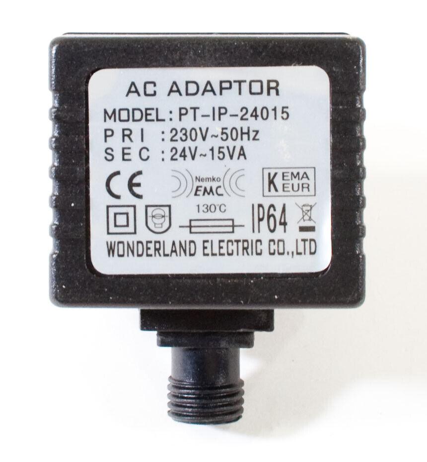Wonderland PT-IP-24015 AC Adapter 24V 15VA Original Power Supply Europlug R841