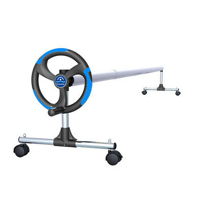 In-Ground Pool Solar Cover Aluminum Reel with Telescopic Tube and Wheels - 15ft