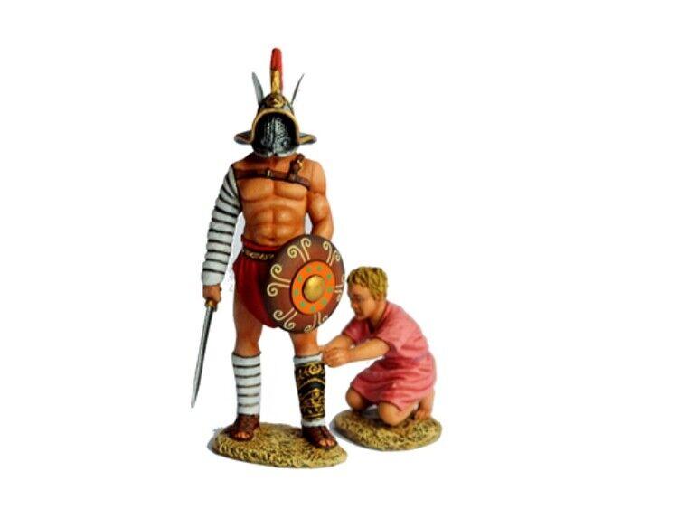 TEAM MINIATURES ROMAN EMPIRE ROM016 HOPLOMACHUS HOPLOMACHUS HOPLOMACHUS GLADIATOR GANNICUS & SLAVE MIB 9b3