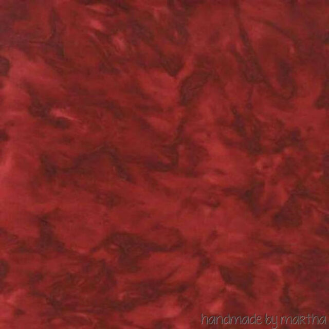 HALF YARD Fabric Batik Garnet Red Tonal AMD7000105 new Kaufman Prisma Dyes Lunn