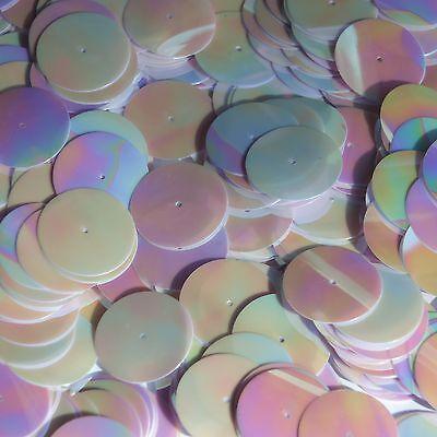 Liberaal 20mm Sequins Center Hole Lavender Opaque Iris Rainbow Iridescent. Made In Usa Hoge Veiligheid