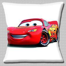 "CARS 2 FILM RACECAR 'LIGHTNING MCQUEEN' CHARACTER PRINT 16"" Pillow Cushion Cover"