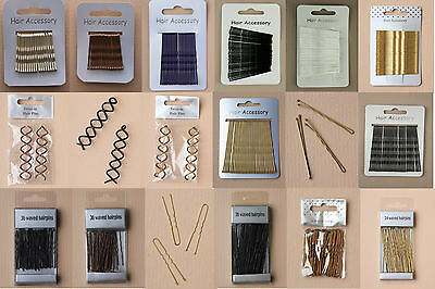 PACK OF 18/20/24/30/36 WAVY HAIR PINS / KIRBY GRIPS / BOBBY PINS TWIST HAIRPINS