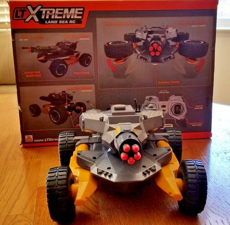 EXTREME RAPID FIRE SHOOTING TRANSFORMS LAND SEA RC (7 Missiles)