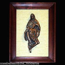Quadro con Scultura Bronzo Fusione cera persa Vintage Sculpture Picture fine 800