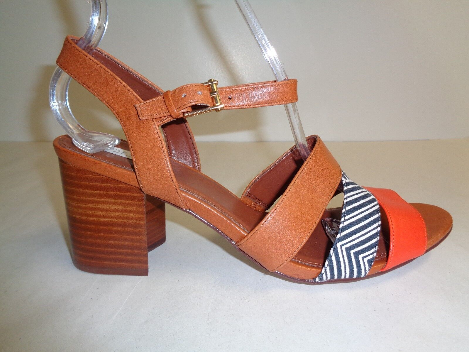 Cole Haan Size 9 M ANISA HIGH Brown Leather Dress Sandals New Donna Shoes